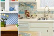 Kitchen / Updating our hideous kitchen / by Tina Davis