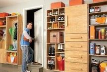The Garage / For most handymen, the garage is where the magic happens! Many cars and lawn mowers have to share their garage space with workrooms and workbenches. Here's how to design and build up your garage space to optimize its use for both storing outdoor equipment, organizing tools, and serving as your workshop. / by The Family Handyman
