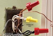 Electrical Repair and Wiring / Electrical DIY projects can be dangerous, but they don't have to be scary! There are so many household projects you can conquer with just a few basic skills and some electricity background knowledge. Here's how to wire your home and fix or install other electric elements. / by The Family Handyman