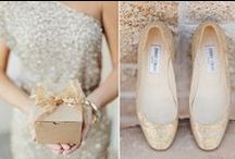 Color Me: Metallics / Mixed metals inspiration for weddings