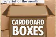 MATERIALS: Cardboard Boxes / Upcycled cardboard boxes are a great material for crafting and imaginary play! / by Craft Project Ideas