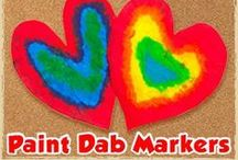 MATERIALS: Paint Dab Markers / Paint dab markers are a great material to use for all kinds of crafts and activities! / by Craft Project Ideas