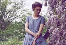 Summer 2014 Campaign / White linens with a pop of violet. All shot on film in the countryside near Bath.