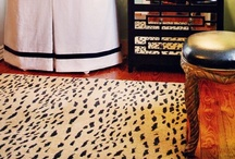 A Walk on the Wild Side / Animal print carpet and rugs.