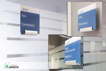 Señalética / Señalización interior y exterior, marcaje y distribución del espacio