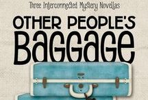 "OTHER PEOPLE'S BAGGAGE / A board dedicated to the 3 interlocking mystery novellas by Kendel Lynn, Gigi Pandian, and Diane Vallere. ""Baggage claim can be terminal. This is what happened after three women with a knack for solving mysteries each grabbed the wrong bag."" / by Henery Press"