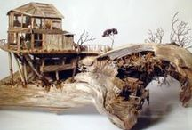 washed ashore ... driftwood as art / by Agnes Strauss