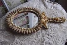shell art ... mirrors and frames / by Agnes Strauss