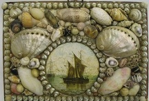 shell art ... decorated boxes / by Agnes Strauss