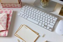 Home Office Decor / Inspiration to spruce up your office space at home or at work!