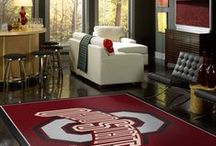 College Logo Rugs / High-quality rugs and mats for loyal fans who take pride in their favorite college sports teams. Show your passion. Support your team.Shown are some examples of college logo rugs we have made for various universities and college.