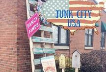 Junk City USA / Places to visit for some great junk- Thrift stores, flea markets, antique stores and any place where you can find some awesome junk!