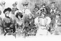 Art_Pen and Ink Illustrations / Mmm! Loads of Charles Dana Gibson right now.