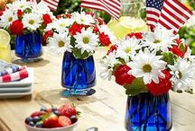 Entertaining {Patriotic} / Ideas for the patriotic family or the 4th of July. Great ways to support the USA at your event.