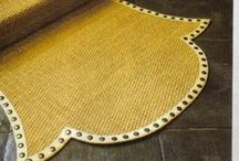 Nailheads in Design and Rugs / Using Nail Heads in different ways.