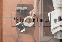 """Favorite Things / Individual pins for items featured in the """"My Favorite Things"""" series."""
