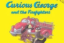 Book Study - Curious George visits the firefighters ( Preschool book)