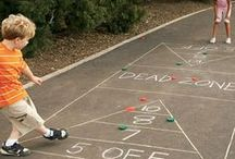 Chalk Games / Chalk fun for everyone! GameOnFamily.com shares our board of fun chalk games to play the next time time your kids say they're bored. Check out our favorite game ideas and find pins with links to instructions that teach you how to play fun games!