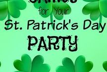 St. Patrick's Day Games / Create St. Patrick's Day party cheer by playing these fun St. Patrick's Day games! GameOnFamily.com has a list of ideas for you and pins with links/instructions that teach you how to play fun St. Paddy's Day party games at home or in the classroom.