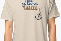 Just a Little Bit Nauti Nautical T-shirts / Funny Nauti boat designs for men and women. Is that nautical or naughty???? Sure to bring a smile to any sailor, boater, boat racer, or captain of the yacht.