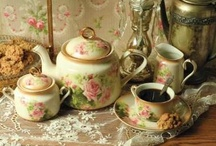 Elevenses ~ Tea Parties / I love tea parties! The ritual, the taking time to relax and socialize. And especially the beauty of the presentation that has remained through time and enriches and enlivens our souls. So much satisfaction in such a simple act. / by Kathy Jones ~ Dust Bunny Trail