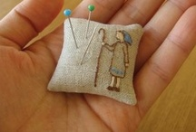 Pincushion LOVE / Pincushions, Pinkeeps, Needlecases, Sewing Organizers, Notions, Thimbles / by Kathy Jones ~ Dust Bunny Trail