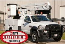 Factory Certified Pre-Owned Units / ETI CERTIFIED Pre-Owned Bucket Trucks For Sale! View ALL of our Factory Certified Pre-Owned units here: http://bit.ly/I8ZefR.