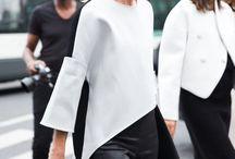 Fashion - De Stijl / Black, white, red