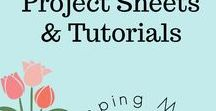 Project Sheets & Tutorials / All different projects that have complete instructions posted on my blog.  Project sheets are downloadable and printable.
