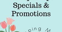 Stampin' Up! Specials & Promotions / Stampin' Up! Specials & Promotions are great times throughout the year to stock up on all your favorite products!