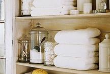 linen closet organization / by Laura Click
