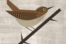 birds / pájaros / Original illustrations in a geometric spirit for you to print. You can also find us in www.estudioclaraezcurra.com.ar