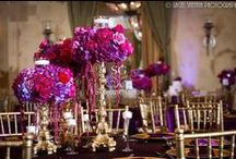 """Centerpieces Un""""veil""""ed (Reception) / There might not be enough words to describe Suhaag Garden's centerpieces, but one that you certainly WON'T be using is """"boring."""" We bring you the very best in quality, style and variety."""