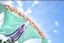 Chandeliers & Ceiling Decor / Look! It's a bird, it's a plane, it's Superman?  Nope... it's just Suhaag Garden working its magic again with chandeliers, flowers and other pretty things for your special event.