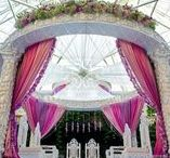White Carved Traditional Round Mandap