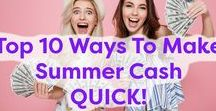 10 Ways To Make Summer Cash QUICK! / Fancy making extra cash this summer? Here are a host of great ideas for seasonal work that you can fit around your current lifestyle.
