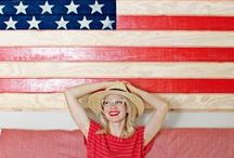 4th of July Crafts and Recipes / DIY crafts, recipes, style inspiration, and all things red, white, and blue to light up your Independence Day.