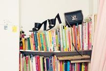 Bookshelves / If you haven't noticed, we're suckers for a color-coded bookshelf.