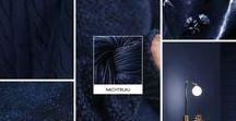 Nachtblau / Ist Nachtblau deine liebste Farbe? Dann inspiriert dich dieses Moodboard mit Sicherheit. Das Strickgarn in der passenden Farbe gibt es unter http://vegarn.eu/tencel