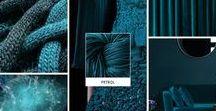 Petrol / Ist Petrol deine liebste Farbe? Dann inspiriert dich dieses Moodboard mit Sicherheit. Das Strickgarn in der passenden Farbe gibt es unter http://tencel.vegarn.eu