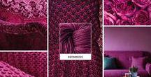 Brombeere / Ist Brombeere deine liebste Farbe? Dann inspiriert dich dieses Moodboard mit Sicherheit. Das Strickgarn in der passenden Farbe gibt es unter http://tencel.vegarn.eu