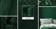 Waldgrün / Ist Waldgrün deine liebste Farbe? Dann inspiriert dich dieses Moodboard mit Sicherheit. Das Strickgarn in der passenden Farbe gibt es unter http://tencel.vegarn.eu
