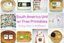 South America / All things South America perfect for your South America unit study, South America Continent box, or any other South America learning for kids.