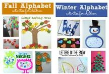 Alphabet Fun For Kids / Many different resources to teaching the alphabet to kids. Tot tray ideas, sensory bins, printables, and many other fun learning ideas for kids.