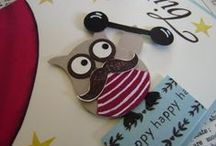 Cards - Made with the Stampin Up owl punch