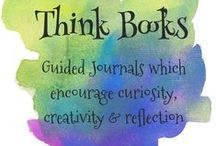Think Books / Think Books are reflective, guided journals that encourage divergent thinking through innovative prompts, which empower the writer to explore, be curious and creative while expressing their unique perspectives and views. The writer gains insight, self-awareness and confidence through the process of expressing their ideas. | www.ThinkingIQ.com | www.https://www.teacherspayteachers.com/Store/Wendy-Baker-Thinkingiq  / by Wendy C. Baker