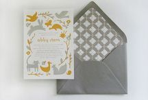 Social Correspondence / Greeting cards, stationery, invitations and announcements.