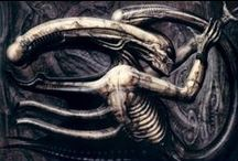 "The Art of H. R. Giger - R.I.P. / Hans Rudolf ""Ruedi"" Giger (February 5, 1940 - May 12, 2014) was a Swiss surrealist painter, sculptor, and set designer. He won an Academy Award for Best Achievement for Visual Effects for his design work on the film Alien.  / by Harold A. Cowx"
