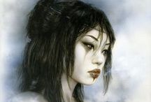 The Art of Luis Royo / Luis Royo (born 1954 in Olalla, Teruel, Spain) is a Spanish artist, known for his sensual and dark paintings, its apocalyptic imagery, his fantasy worlds and mechanical life forms. He has also recently moved into sculpture. Royo has produced paintings for both his own books and exhibitions and other media; such as video games, music CD and novels covers, tarot cards. He is famous for his work collected in books published worldwide. / by Harold A. Cowx