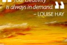 Favorite Affirmations from Louise Hay / Always follow Louise Hay.Her Quotes make you feel good when you are down. Try it..